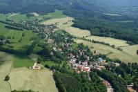 Letecký snímek východ