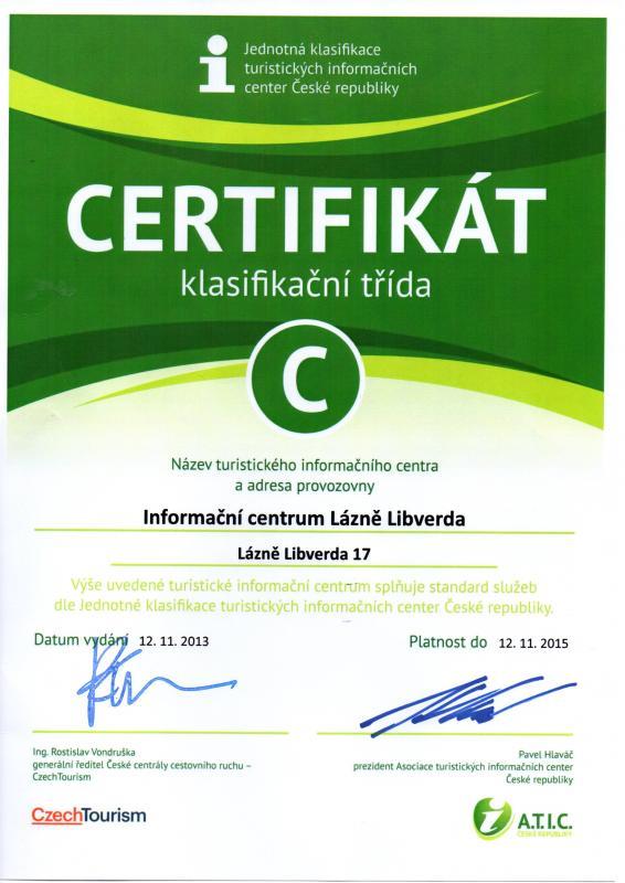 Certifikát, obrázek se otevře v novém okně